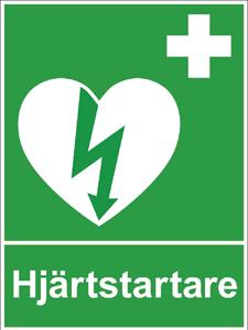 hjärtstartare finns i bygdegården